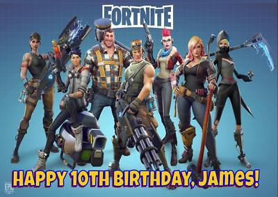 XL A4 size  FORTNITE GAME D2 PERSONALISED BIRTHDAY CARD - ANY NAME AGE RELATION