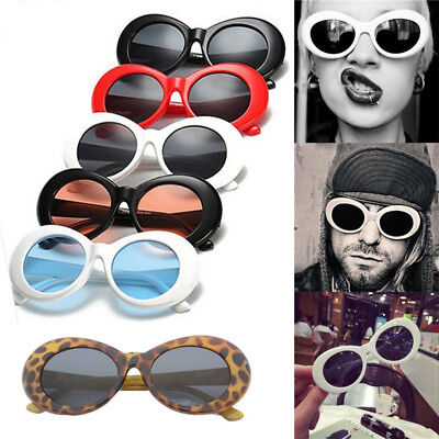 Fashion Clout Goggles Sunglasses Rapper Oval Shades Grunge Unisex Girl Glasses