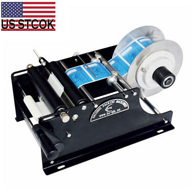 Manual Labeling Machine Semi-automatic Round Bottle Packing Machinery By Hand