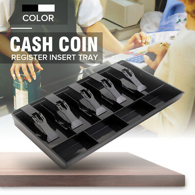Money Cash Drawer Tray Register Till Insert Coin Replacement Cashier Storage Box