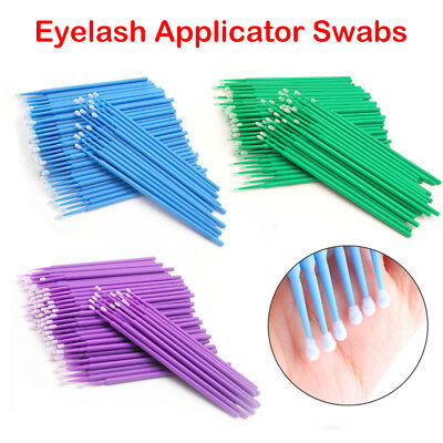 100Pcs Applicators Eyelash Swab Micro Brush Disposable Microbrush Makeup Tool