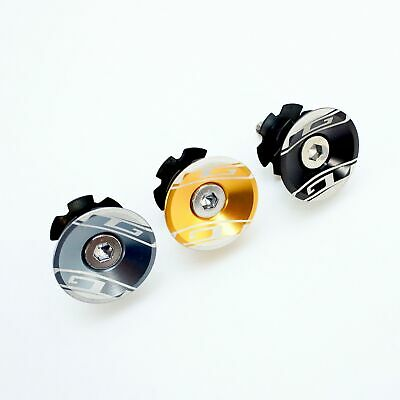 """GT Bicycle Headset Star Nut & Top Cap Set // 1-1/8""""  Black/Gold/Gray"""