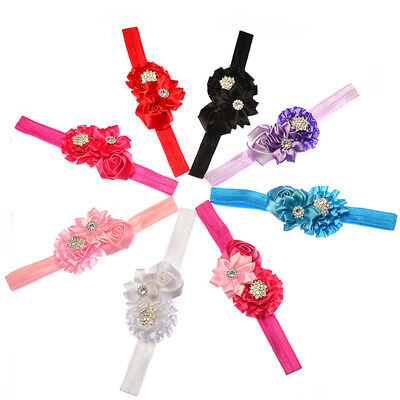 Baby UK Newborn Baby Girls Rose Flower Headband Infant Toddler Hair Band Accessories Accessoires