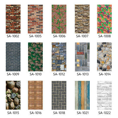 Simulation 3D Brick Stone Wall Sticker Self-adhesive Film Wallpaper Home Decor