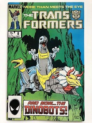 The Transformers #8 1985 Marvel Comics 1st full appearance Dinobots NM Key Issue