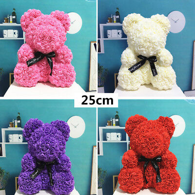 Romantic Rose Bear Soap Flowers Wedding Party Valentine's Day Girlfriend Gift AU