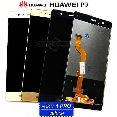 LCD DISPLAY + TOUCH SCREEN Originale HUAWEI P9 Normale EVA-L09 Schermo Vetro
