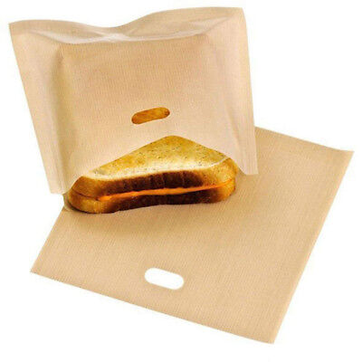10x Reusable Toast Bag Toaster Sandwich Bag Baking Pouch Toasty Toastie Pockets