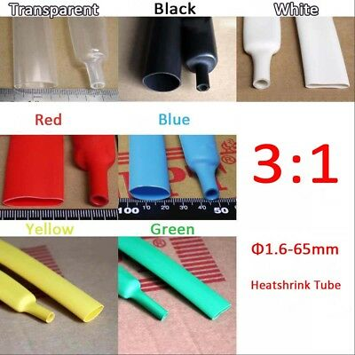 1.6-65mm Heatshrink Tube Heat Shrink Tubing Wire Waterproof Glue Lined 3:1