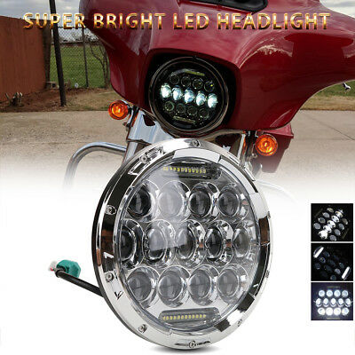 7 inch Round LED Headlight Hi/Low DRL Daymaker For Jeep Wrangler CJ TJ JK Harley