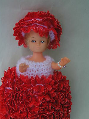 "Sindy Pedigree Doll, 18cm (8"") Original Hand Knitted Outfit"