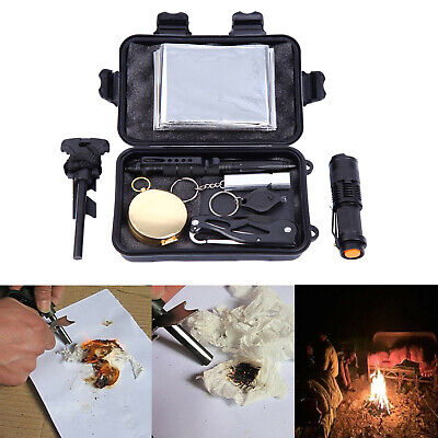 10 in 1 Emergency Survival Equipment Kit Outdoor Sports SOS Tactical Tool Set
