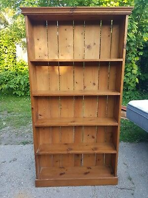 Solid Pine Rustic Bookcase