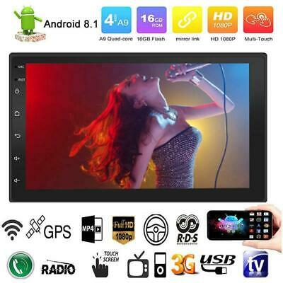 Android 8.1 WiFi 2Din 7in HD GPS Navi Car Stereo Bluetooth MP5 Player Quad Core