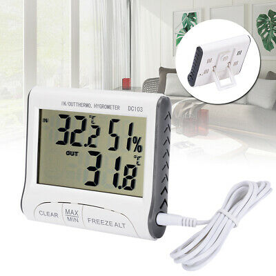 Digital Wireless Indoor Outdoor LCD Thermo-Hygrometer Thermometer Humidity Meter