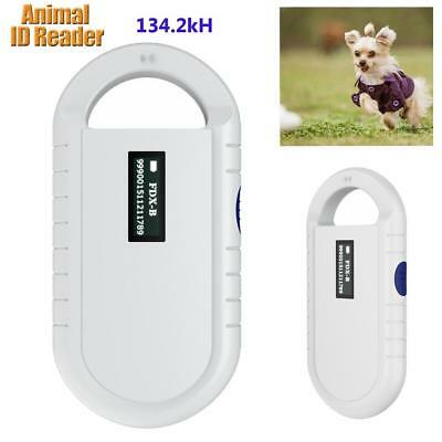 White Handheld Animal Chip Reader Pet Microchip Scanner Universal RFID Reader UK