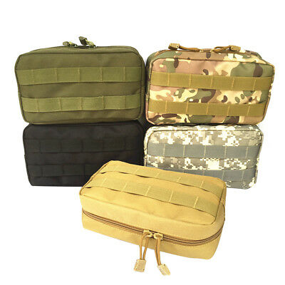 Tactical Molle EDC Utility Tool Bag Medical First Aid Pouch Nylon Waterproof RUC