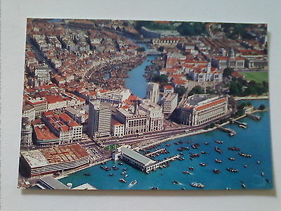 Postcard Aerial view of Singapore with river      (B3)