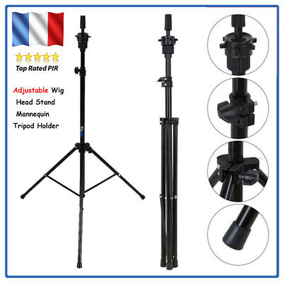 New Adjustable Wig Head Stand Mannequin Tripod Holder for Hairdressing Training