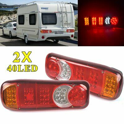 80 LED Trailer Light Cable Board Tail Lights Rear  Stop Brake Indicator Lamps UK