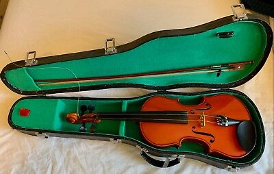 Beginner's Violin Student  Good Condition With Case