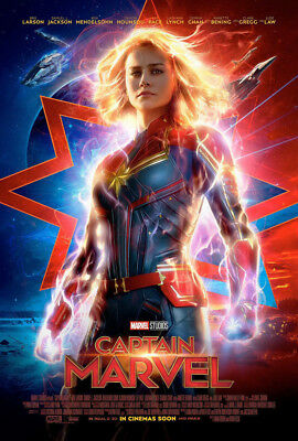 ORIGINAL Captain Marvel Official INTL 27x40 DS POSTER double 2 sided Brie Larson