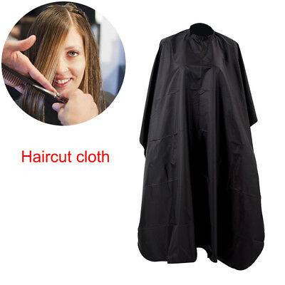 Handmade Black Salon Barbers Cape Gown Hairdressing Hair Cutting Waterproof Gown