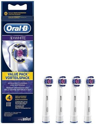 Oral B 3D White Replacement Electric Toothbrush Heads  Genuine