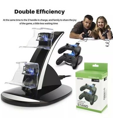 X-box One/One X/One S Dual Controller Charger Quick Charging Dock Station Stand