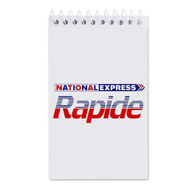 National Express Rapide Bus Coach Inspired Notepad & Pen New Nbc Bus Company