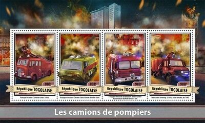Z08 Tg17113a Togo 2017 Fire Engines MNH Mint