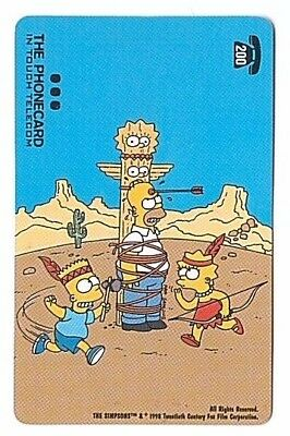Belgium - In Touch Telecom - The Simpsons Carte 301 - 200 BEF - Used/Usagée