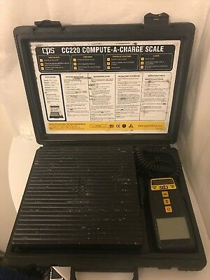 CPS Products CC220 Compute-A-Charge Refrigerant Charging Scale Free Shipping