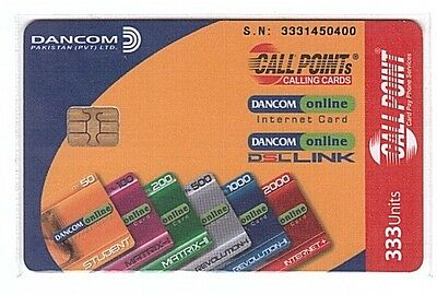 Pakistan - Chipcard Call Point 333 Units Red - Used/Usagée