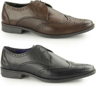 Silver Street WEST Mens Leather Smart Office Derby Evening Lace Up Brogue Shoes