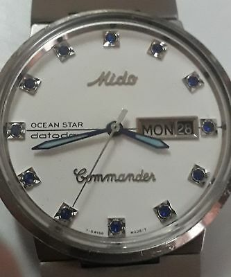 """RARE 60's MIDO Ocean Star """"Commander"""" DatoDay Automatic   🚚 FAST & FREE"""