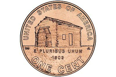 2009 S Lincoln Penny Childhood (Cabin) UNCIRCULATED! Includes Photo & Signature!