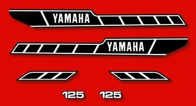 YAMAHA RD 125 - Kit carrosserie  Sticker decals - RD125 1978