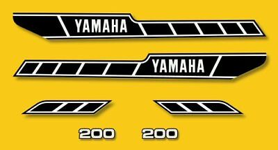 YAMAHA RD 200 - Kit carrosserie  Sticker decals - RD200 1978