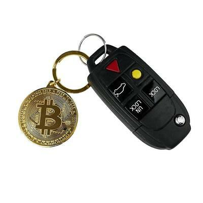 Bitcoin Gold Medal Key Ring Chain Fob Keychain Keyring  New Type