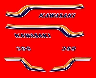 KAWASAKI 350 S2 - Stickers decals carrosserie - 1971 1972