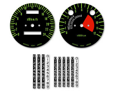 KAWASAKI 750 H2 Mach4 - Stickers fonds de compteurs - decals gauge 1972