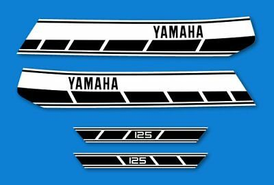 YAMAHA RD 125 - Kit carrosserie  Sticker decals - RD125 1976