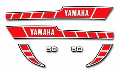 YAMAHA RD 50 - Kit déco Sticker decals - RD50 - 1978