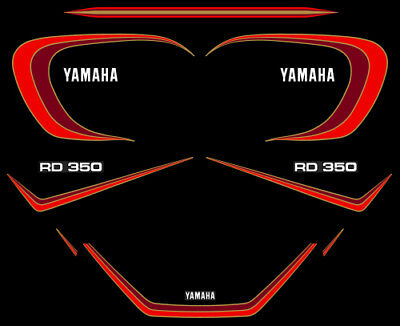 YAMAHA RD 350 LC 4L0 - Kit déco Sticker decals - 4LO RDLC 1981