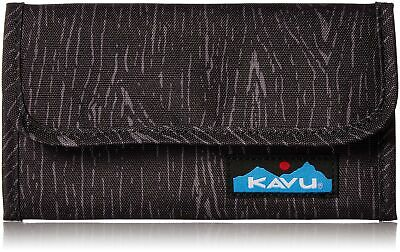 KAVU Mondo Spender Trifold Wallet Womens Clutch Travel Organizer - Black Oak