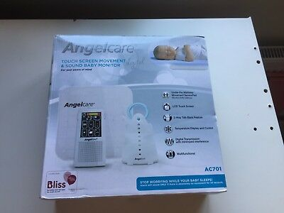 Angelcare Touchscreen Movement and Sound Baby Monitor Digital AC701 ANGEL CARE
