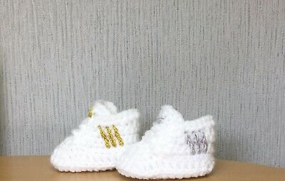 Handmade Crochet Baby  Shoes  First Boots Wool