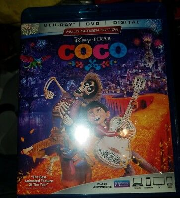 Coco (Blu-ray + DVD + Digital Combo Pack) (Mutli Screen Edition) New and Sealed