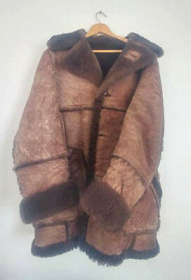 acda866ae4 Vintage Cooper Sportswear Mens Rancher Coat Brown Shearling Marlboro Man  USA 44
